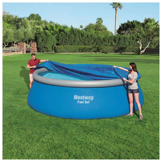 58035E-BW-U-A Bestway Flowclear Fast Set Pool Debris Cover for 15 Foot Round Pools (Open Box) 3