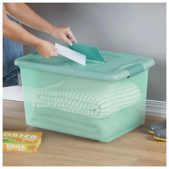 12 x 15077Y06-U-A Sterilite 64 Quart Fresh Scent Stackable Plastic Storage Box (Open Box)(12 Pack) 4
