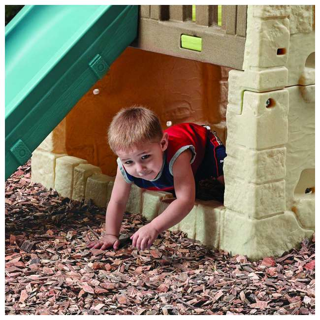4902KR Step2 Naturally Playful Woodland Climber II Outdoor Activity Center with Slide 3