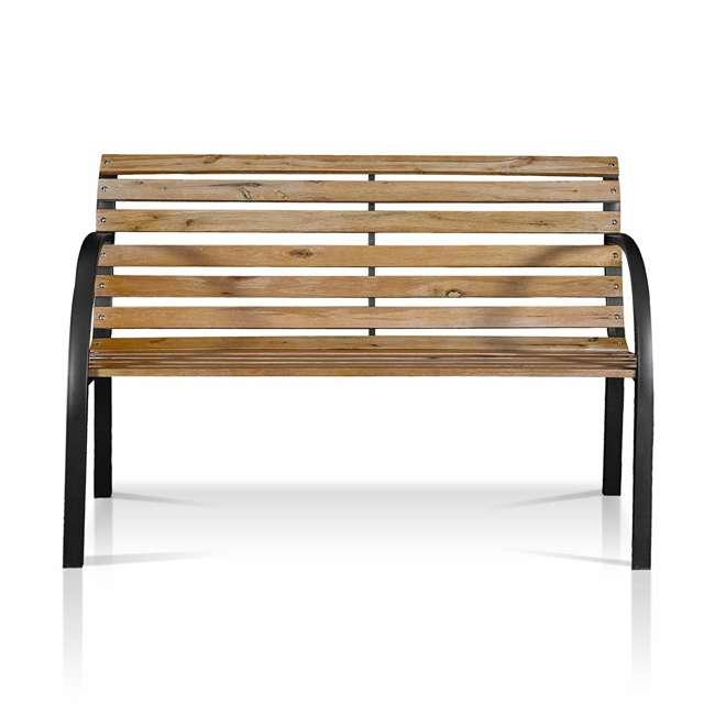 IDF-OB1805 Furniture of America IDF-OB1805 Dumas Weather Resistant Outdoor Patio Bench 2