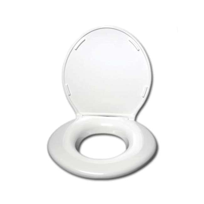 BJP-6W-U-C Big John Products Standard Closed Front Toilet Seat with Cover (For Parts)