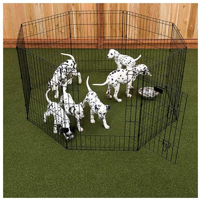ZW 11624 Lucky Dog Modular Pet Play Pen, 24-inch (2 Pack) 2