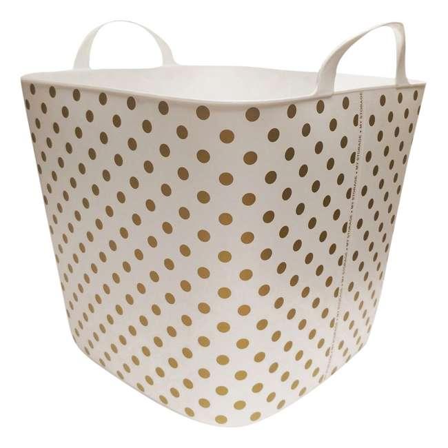 12 x TUB-GOLD-DOT Life Story 25-Liter Plastic Storage Tub Basket, Gold (12 Pack) 1
