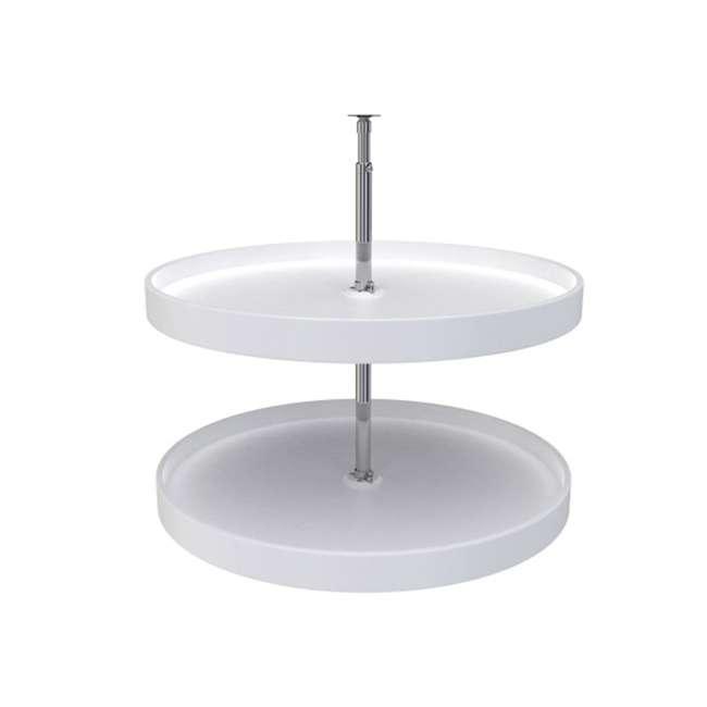 6012-28-11-52 Rev-A-Shelf 6012-28-11-52 28 Inch White Polymer Full Circle 2 Shelf Lazy Susan
