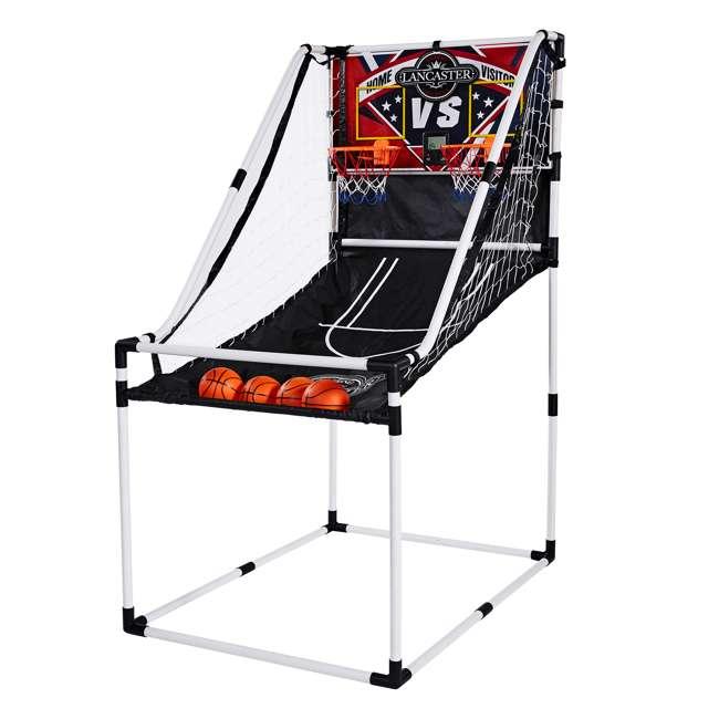 BBG025_017P-U-B Lancaster 2 Player Junior Arcade Basketball Dual Hoop Shooting Game Set (Used)