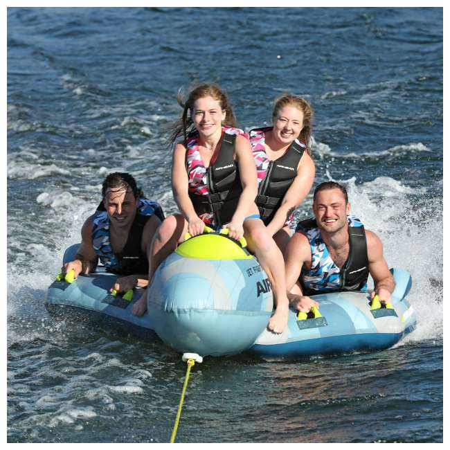 AHFJ-14 Airhead Jet Fighter Airplane 4 Person Inflatable Boat Towable Water Tube Raft 6