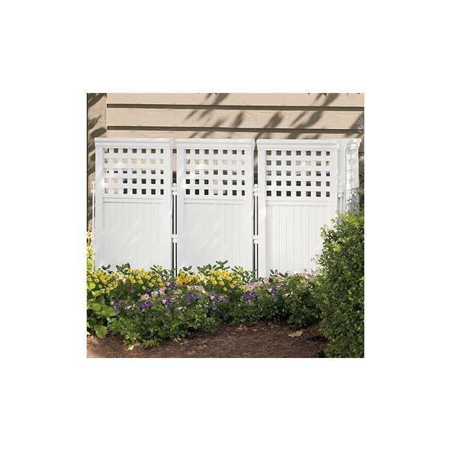 4 x FS4423T Suncast Outdoor Steel and Resin 4 Panel Screen Yard Enclosure, Taupe (4 Pack) 1