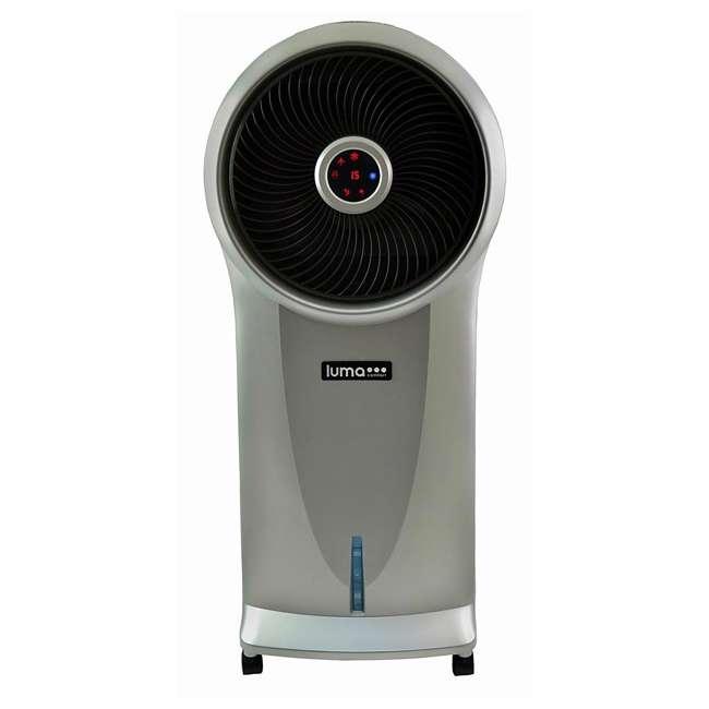 4 x EC110S-U-A Luma 250 Sq Ft 3 Speed Evaporative Cooler w/ Remote, Silver (Open Box) (4 Pack) 4