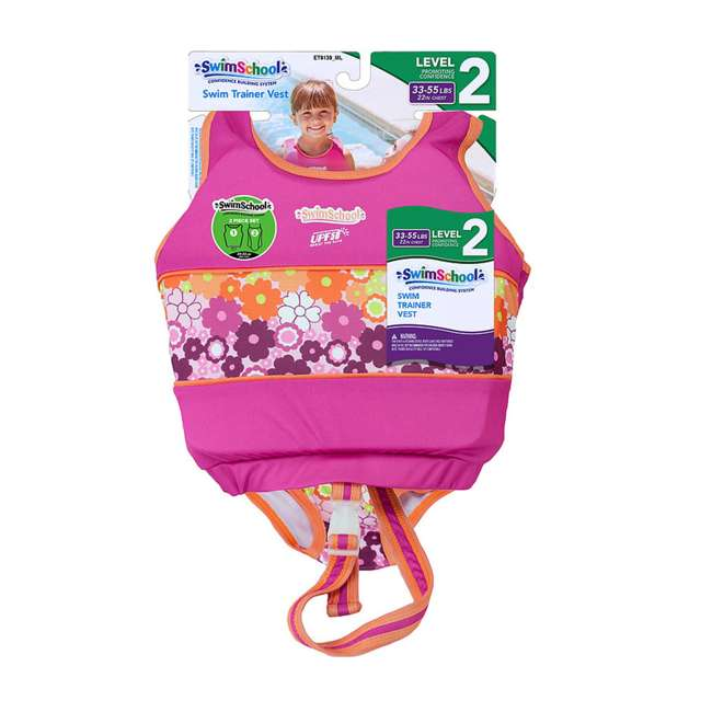ET9139SM SwimSchool 2 to 4 Years Swim Trainer, Pink 2