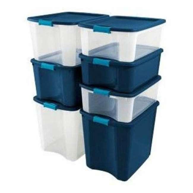 4 x 14489604-U-A 4 Pack Sterilite 26 Gallon Latch & Carry Storage Tote Box Containers (Open Box) 5