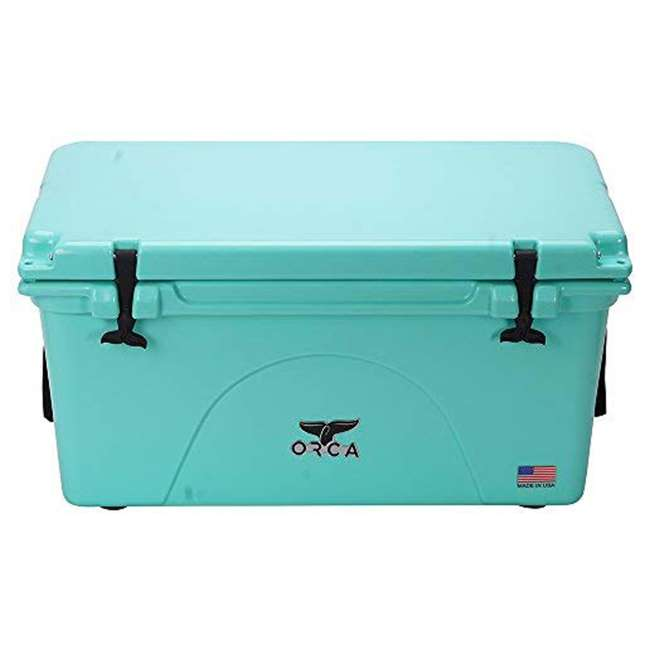 ORCSF075 Orca ORCSF075 75 Quart 15 Gallon Roto Molded Insulated Outdoor Cooler, Seafoam 3