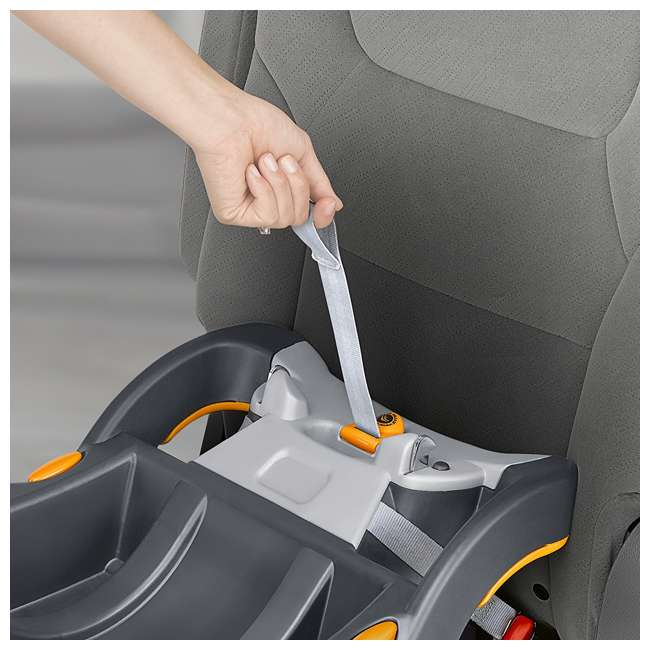 CHI-0607966295 + CHI-0706041450 Chicco Car Seat Compatible Shuttle Frame Stroller and Rear Facing Baby Car Seat 11