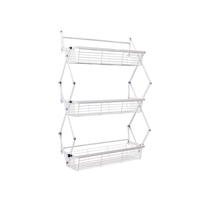 OTD-3R-WHI Supermoon Products Over the Door 3 Tier Hanging Rack (2 Pack) 1