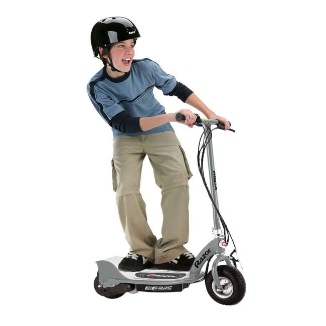 13116312 + 13116397 Razor E325 Electric Motorized Scooters, 1 Silver & 1 Black 3