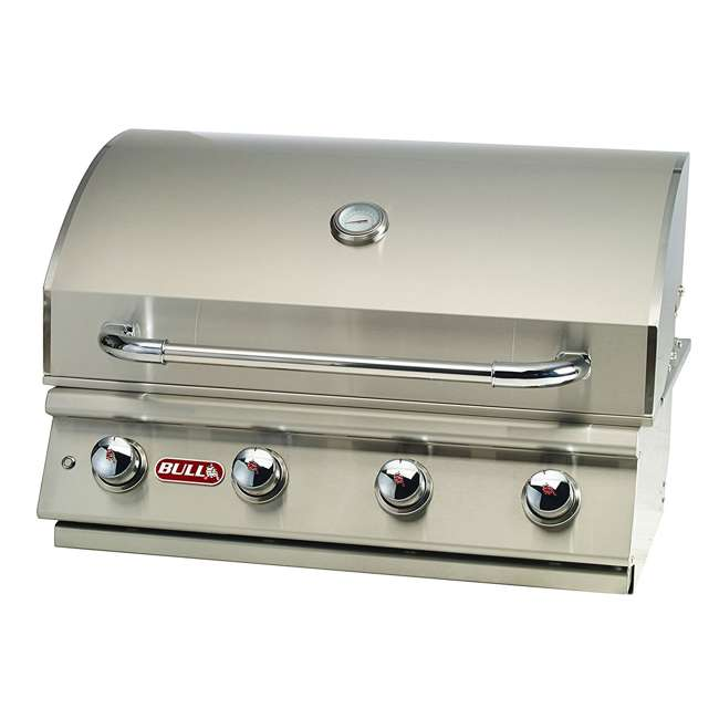BOP-87049 Bull Lonestar 4 Burner 30'' SS Natural Gas Fired Barbecue Grill Head (Open Box) 1
