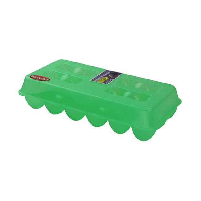 TS-ETS18 Tuff Stuff Reusable Washable Empty Plastic Chicken Egg Carton Tray, 18 Eggs