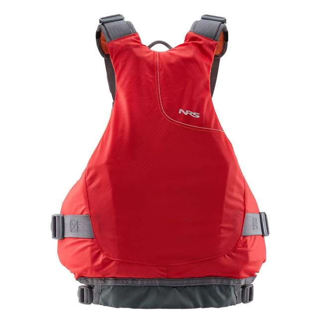 NRS_40056_01_104 NRS Ion PFD Adult Life Jacket Vest with Pockets, Red, L/XL 1