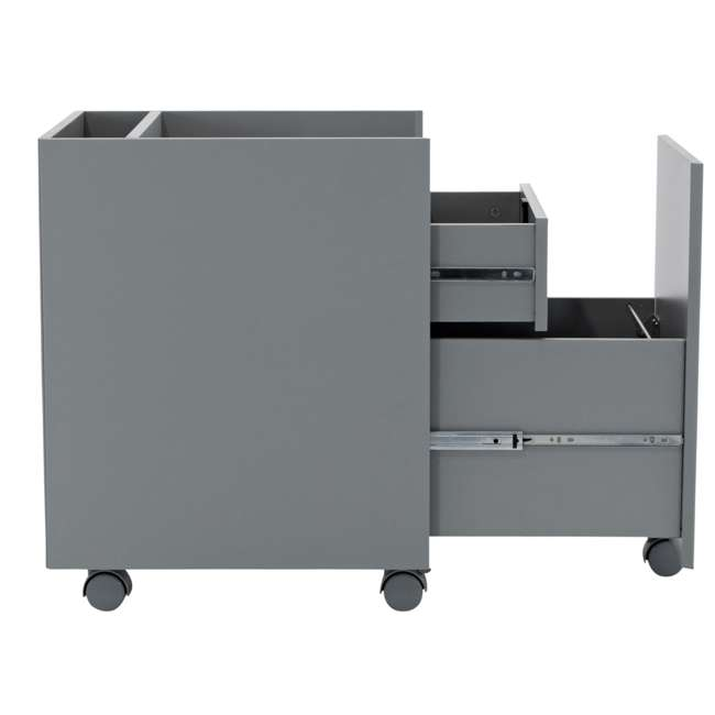 51107 Calico Designs 51107 Niche Mobile Wooden Rolling Home Office File Cabinet, Gray 3
