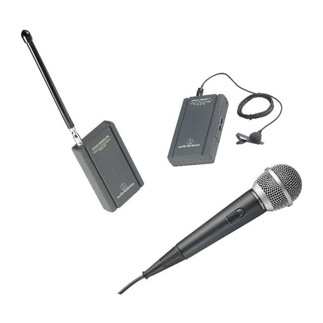 ATR288W-OB Audio Technica VHF TwinMic System with Receiver and Transmitter 4