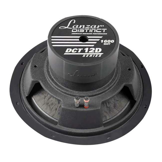 DCT12D Lanzar DCT12D 1600-Watt 12-Inch 4 Ohm Subwoofer (2 Pack) 2
