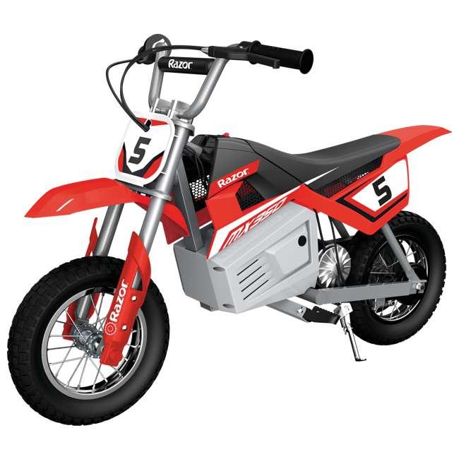 15128095 + 97775 + 96785 Razor MX350 Dirt Rocket Bike with Helmet, Elbow & Knee Pads 1