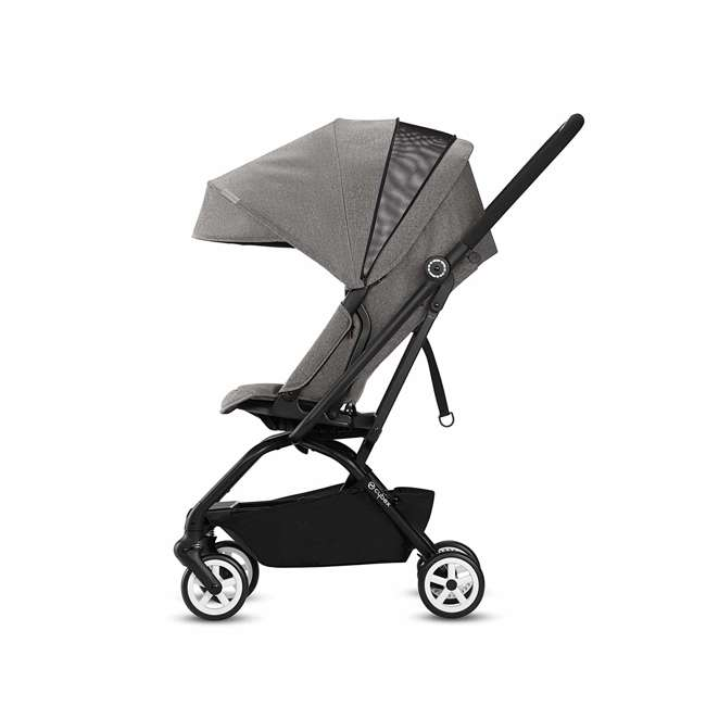 518001259  Cybex Eezy S Twist Travel System Baby and Toddler Stroller w/ Sun Canopy, Black 8