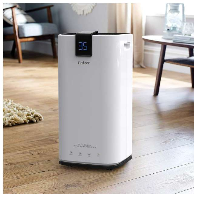 PD123A Colzer PD123A 30 Pint 1500 Sq Ft Portable Home Room Basement Air Dehumidifier 4