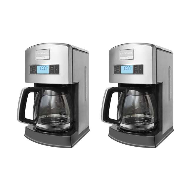 FPAD12D7PS Frigidaire Professional 12-Cup Stainless Steel Drip Coffee Maker (2 Pack)