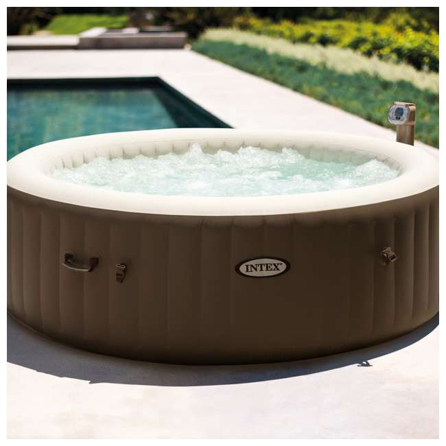 28407VM Intex PureSpa 6-Person Portable Inflatable Bubble Jet Hot Tub 1