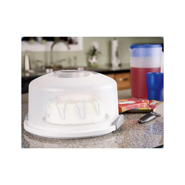 4 x 02008004-U-A Sterilite Latching Cake Server Carrier Keeper w/Handles, One (Open Box) (4 Pack) 3