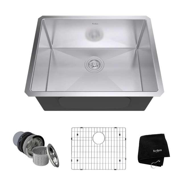 Kraus 23-Inch Rectangular Undermount Stainless Steel Kitchen Sink
