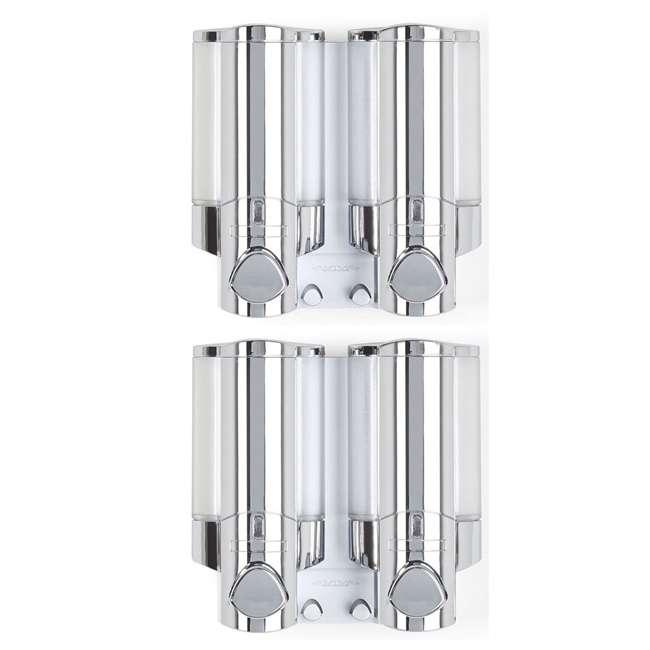 76245-1 Better Living 2 Chamber Shower Dispenser for Shampoo and Bodywash (2 Pack)