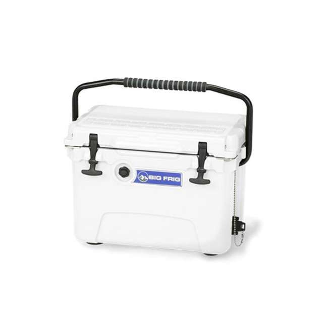 BFDB20-WH Big Frig Denali 20 Quart Insulated Cooler with Cutting Board and Basket, White 1
