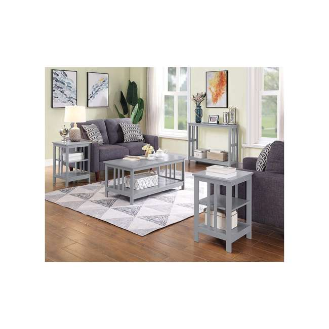 S20-250 OMA - Convenience Concepts 203385GY End Table, Gray 5
