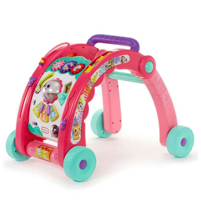 643095-U-A Little Tikes Light 'n Go 3-in-1 Baby Activity Table & Walker Toy, Pink(Open Box)