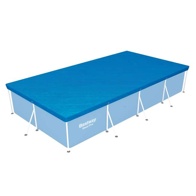 58107-BW-U-A Bestway 157 x 83 Inch Above Ground Pool Tarp Cover for Steel Pro Pool (Open Box)