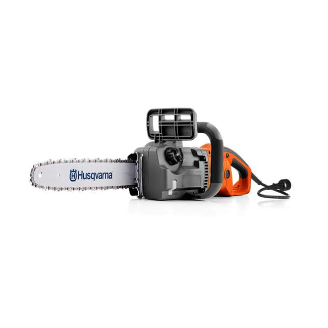 HV-CS-967256101 Husqvarna 414EL 120V 16 Inch 14.5 Amps Corded Electric Power Chainsaw, Orange