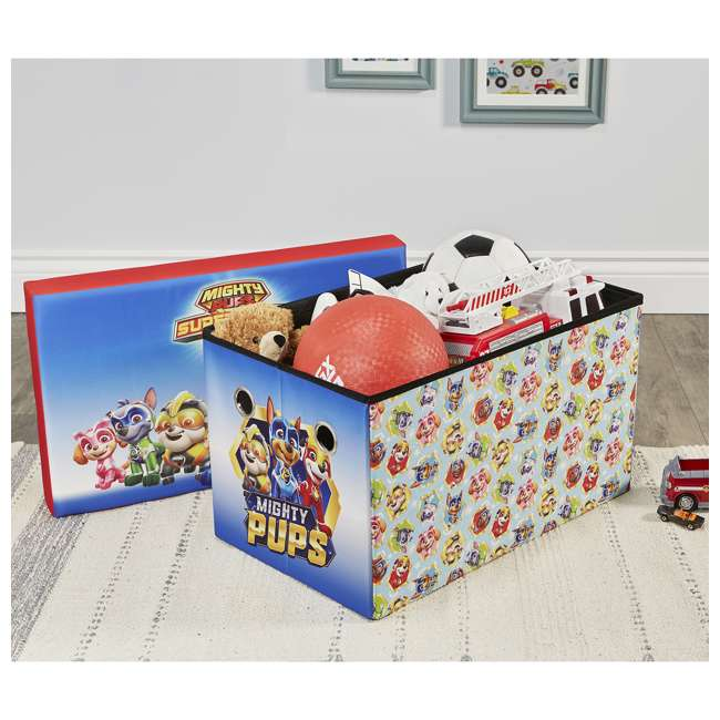 520021-005 Fresh Home Elements 30-Inch Licensed Folding Super Toy Chest & Bench, Paw Patrol 5