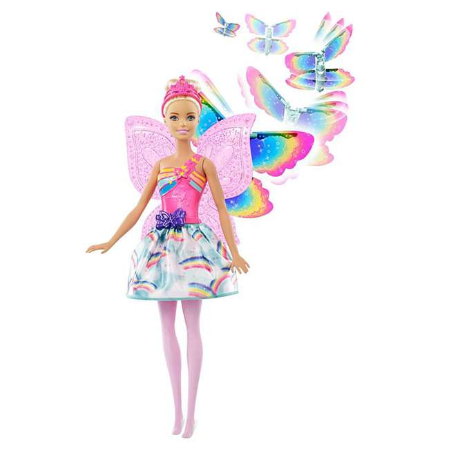 4 x FRB08 Mattel Barbie Dreamtopia Flying Wings Fairy Doll (4 Pack) 3