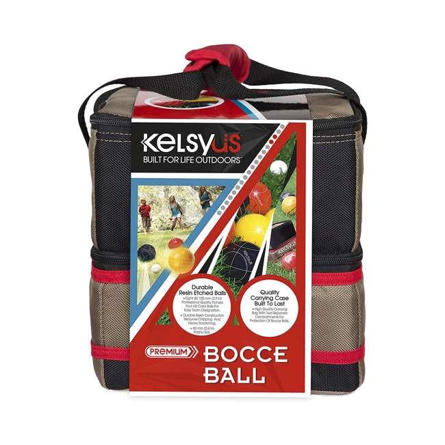 6038655 SwimWays Kelsyus 6038655 Premium 100mm Outdoor Play Bocce Ball Game Set Kit 2
