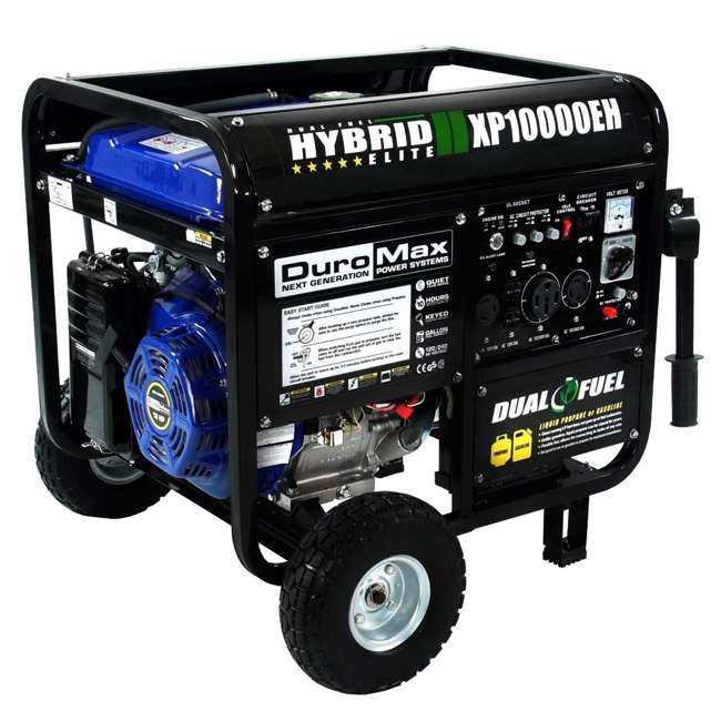 XP10000EH + XPLGC DuroMax 10000 Watt Hybrid Portable Generator & Generator Cover, Black 1
