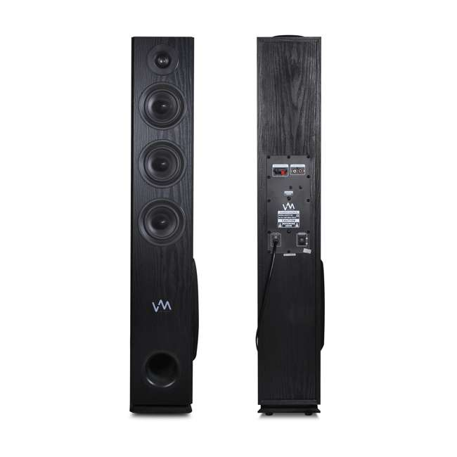 EXAT31-BK VM Audio EXAT31 Black Floorstanding Powered Bluetooth Tower Home Speakers Pair 5