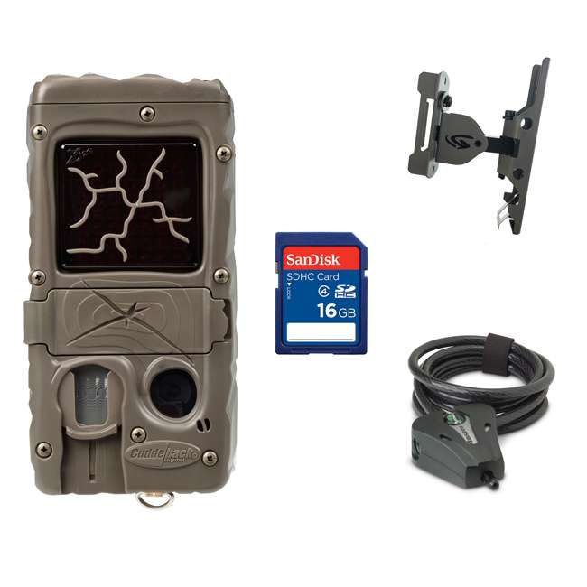 G-5017-CL-DUAL-FLASH + Accessories Cuddeback Game Camera + 16GB SD Card + Game Camera Mount + Security Cable