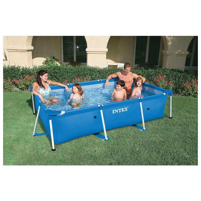 4 x 28270E Intex Rectangular-Frame Above Ground Baby Swimming Pool (Open Box) (4 Pack) 1