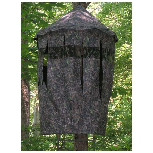 BM5119 Cooper Hunting BM5119 Bow Master RealTree Concealment Cover w/ TM100 Tree Mount 4