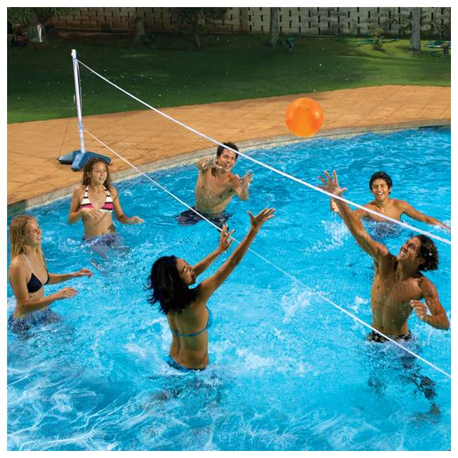 72789 Poolmaster Across Pool Volleyball Net Swimming Pool Game Combo (2 Pack) 4