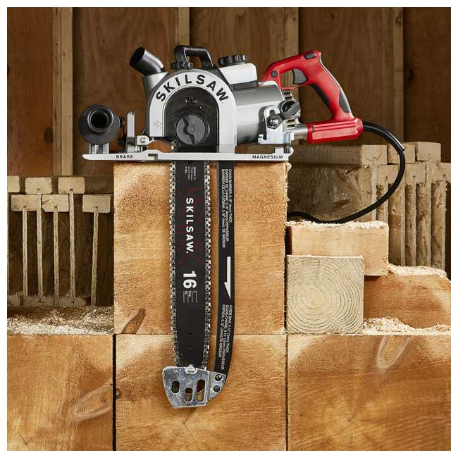 SPT55-11 SKILSAW SPT55-11 16 Inch Heavy Duty Worm Drive SAWSQUATCH Carpentry Chainsaw 5