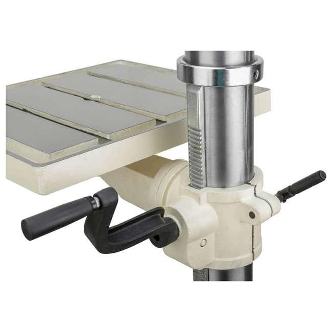 M1039 Shop Fox M1039 20 Inch 1.5 Horsepower Floor Drill Press with Work Light, White 7