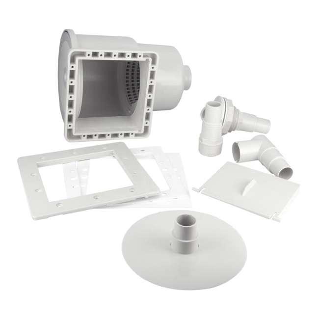 8940-U-B Hydrotools Standard ABS Thru-Wall Pool Skimmer (Used) (2 Pack) 3