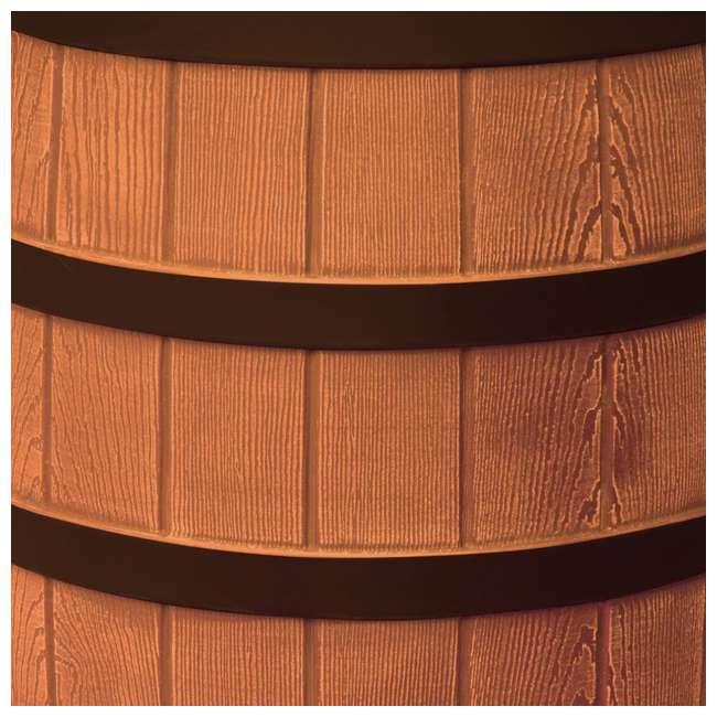 RW40-DR-TC Good Ideas Rain Wizard Rain Collection Rain Barrel Darkened Ribs, Terra Cotta 3